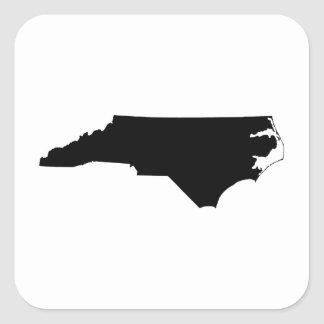 North Carolina in Black and White Square Sticker