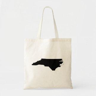 North Carolina in Black and White Tote Bag