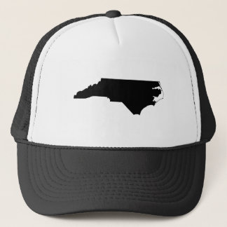North Carolina in Black and White Trucker Hat
