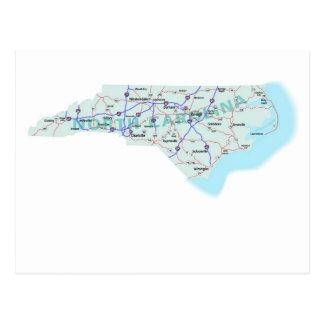 North Carolina Interstate Map Postcard