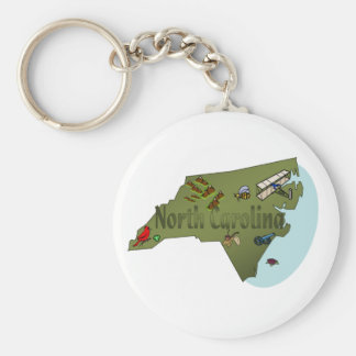 North Carolina Keychain