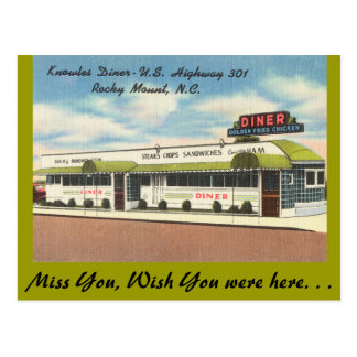 North Carolina, Knowles Diner, Rocky Mount Postcard