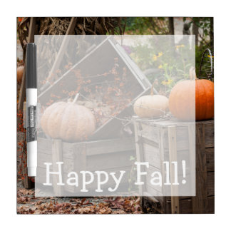 North Carolina, Linville, autumn pumpkins Dry Erase Board