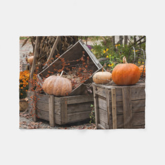 North Carolina, Linville, autumn pumpkins Fleece Blanket
