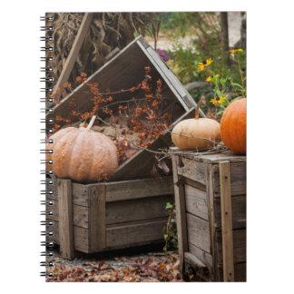 North Carolina, Linville, autumn pumpkins Spiral Notebook