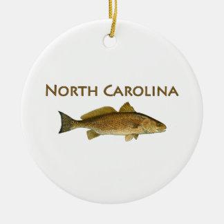 North Carolina Logo (red drum) Christmas Ornament