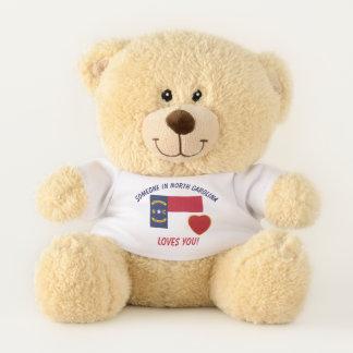 North Carolina Loves You Teddy Bear