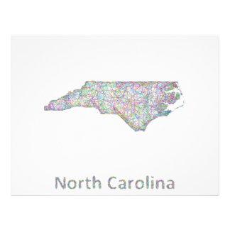 North Carolina map 21.5 Cm X 28 Cm Flyer