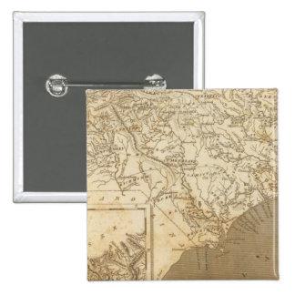 North Carolina Map by Arrowsmith 15 Cm Square Badge