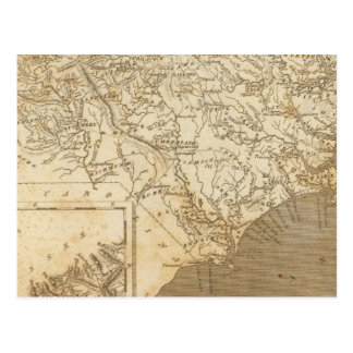North Carolina Map by Arrowsmith Postcard