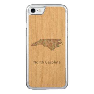 North Carolina map Carved iPhone 8/7 Case