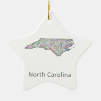 North Carolina map Christmas Ornament