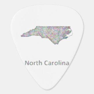 North Carolina map Plectrum