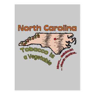 North Carolina NC Motto ~ Tobacco is a Vegetable Postcard