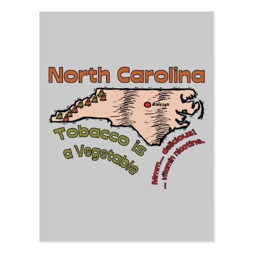 North Carolina NC Motto ~ Tobacco is a Vegetable Post Card