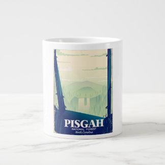 North Carolina Pisgah national park travel poster Large Coffee Mug