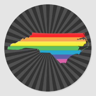 north carolina pride. classic round sticker