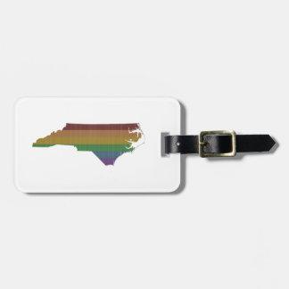 North Carolina Rainbow Gay Pride Luggage Tag
