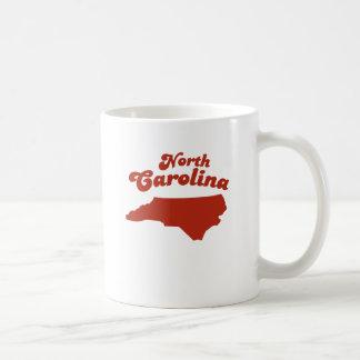 NORTH CAROLINA Red State Basic White Mug