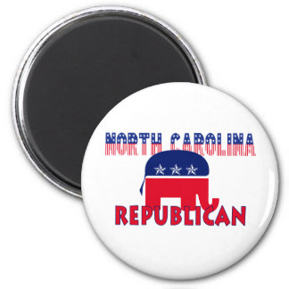 North Carolina Republican 6 Cm Round Magnet
