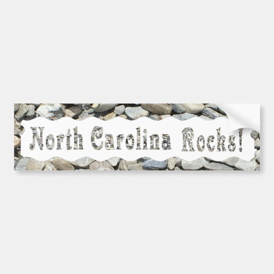 NORTH CAROLINA ROCKS-BUMPER STICKER
