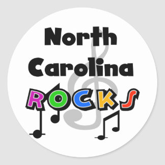 North Carolina Rocks Classic Round Sticker