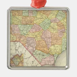 North Carolina Silver-Colored Square Decoration