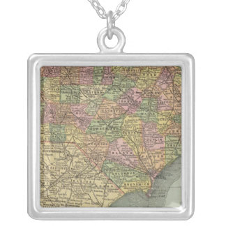 North Carolina Silver Plated Necklace