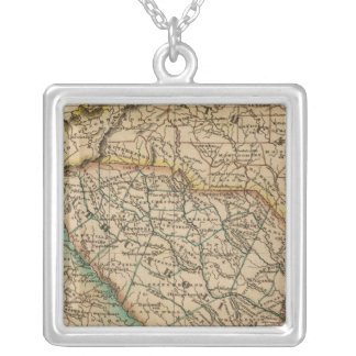 North Carolina, South Carolina, Georgia Silver Plated Necklace