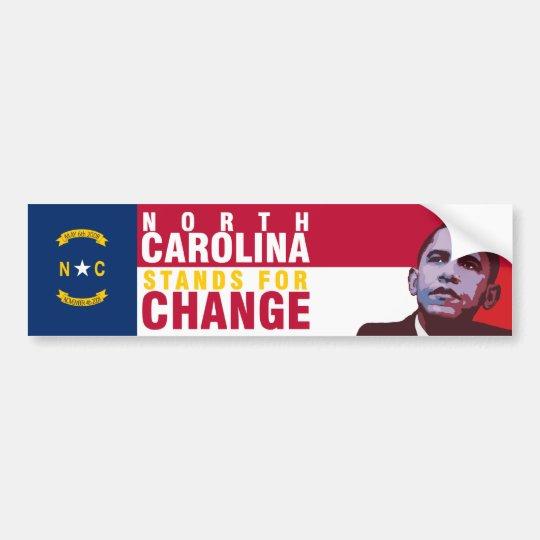 North Carolina Stands for Change - Bumper Sticker