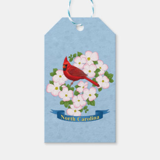 North Carolina State Cardinal Bird Dogwood Flower