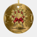 North Carolina State Christmas Ornament