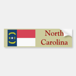 North Carolina State Flag Bumper Sticker