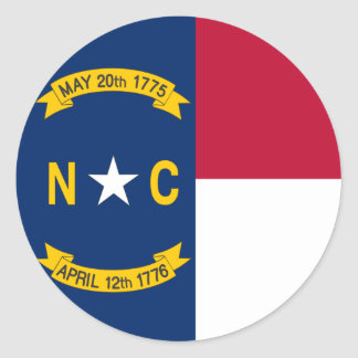 North Carolina State Flag Classic Round Sticker