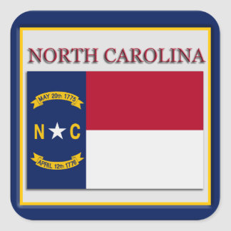 North Carolina State Flag Design Sticker