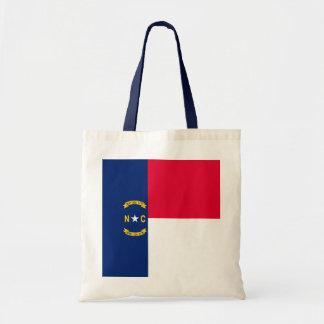 North Carolina State Flag Design Budget Tote Bag