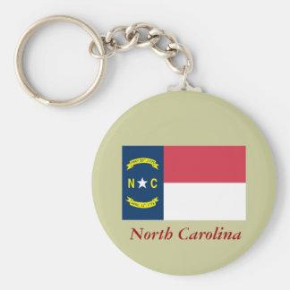 North Carolina State Flag Key Ring