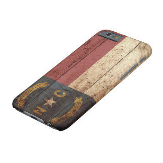North Carolina State Flag on Old Wood Grain Barely There iPhone 6 Case
