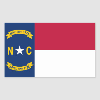 North Carolina State flag Rectangular Sticker