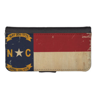 North Carolina State Flag VINTAGE. iPhone SE/5/5s Wallet Case