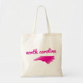 North Carolina state in pink Tote Bag