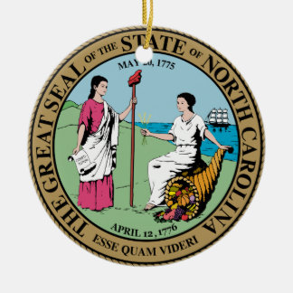 North Carolina State Seal Christmas Ornament