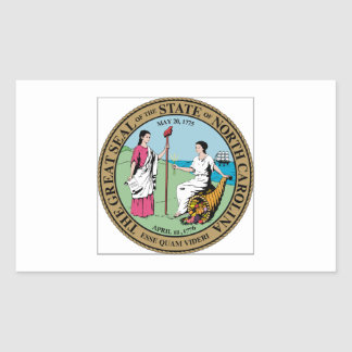 North Carolina State Seal Rectangle Stickers