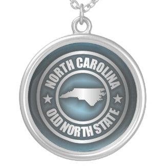 """""""North Carolina Steel 2"""" Silver Plated Necklace"""