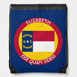 North Carolina Tar Heel State Personalized Flag Backpacks