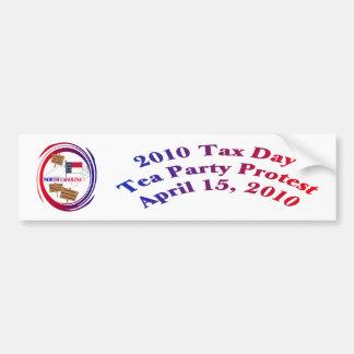 North Carolina Tax Day Tea Party Protest Car Bumper Sticker