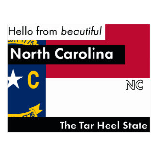 North Carolina The Tar Heel State Postcard