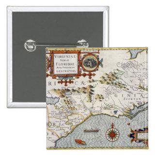 North Carolina, titled 'Virginiae item et Floridae 15 Cm Square Badge
