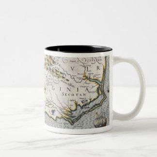 North Carolina, titled 'Virginiae item et Floridae Two-Tone Coffee Mug