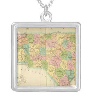North Carolina US Silver Plated Necklace